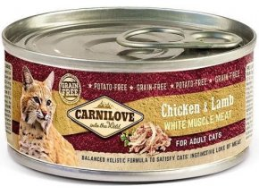 7740 carnilove wmm chicken lamb for adult cats 100g