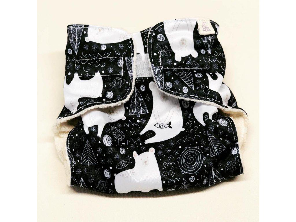 Plenkové kalhotky AIO s biobavlnou Bear