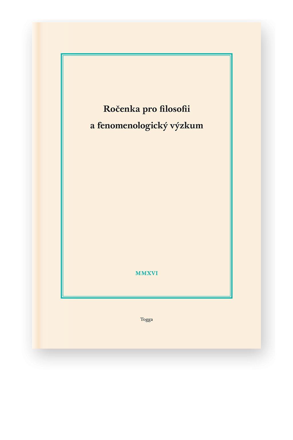 1155 rocenka pro filosofii a fenomenologicky vyzkum 2016