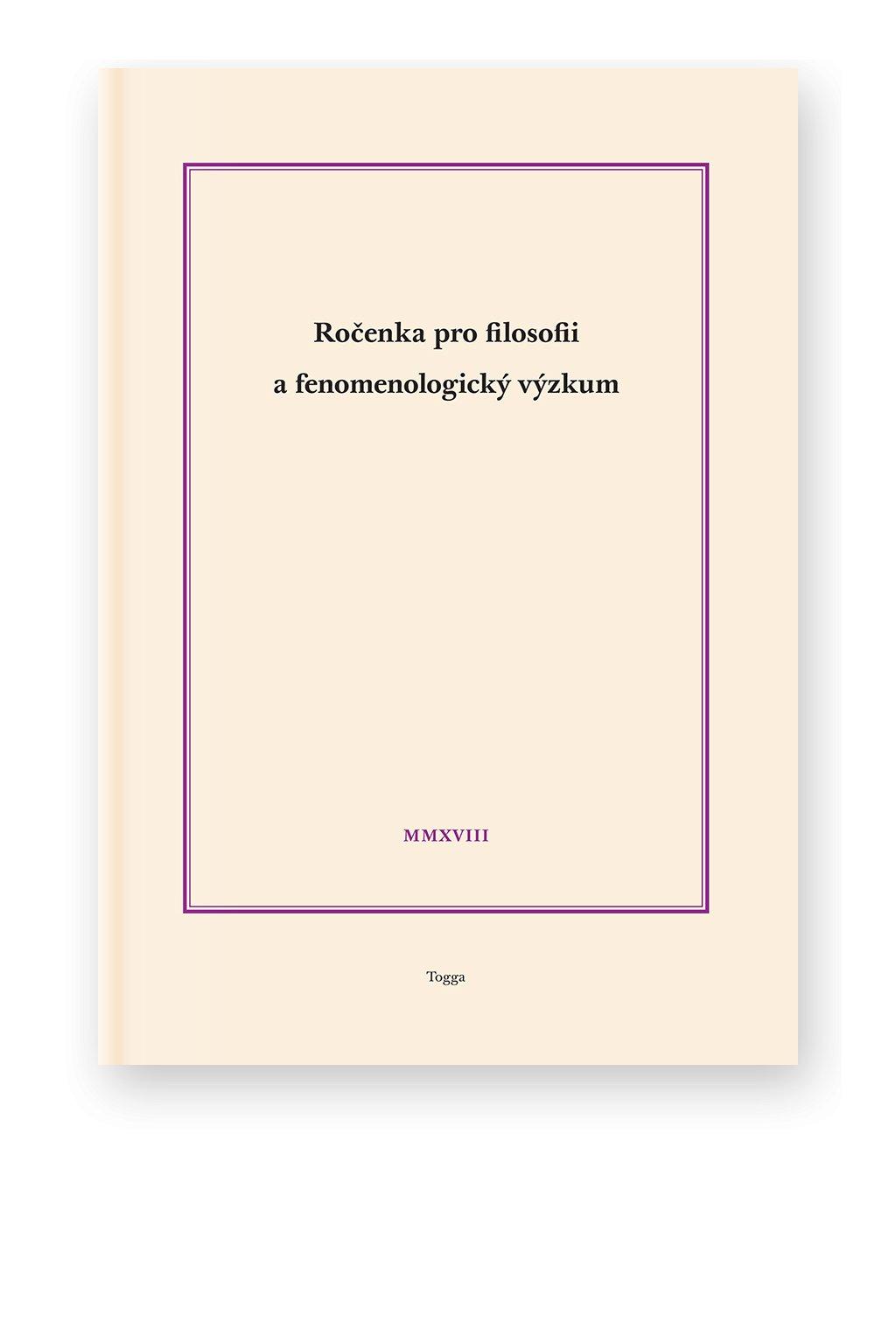 1254 rocenka pro filosofii a fenomenologicky vyzkum 2018