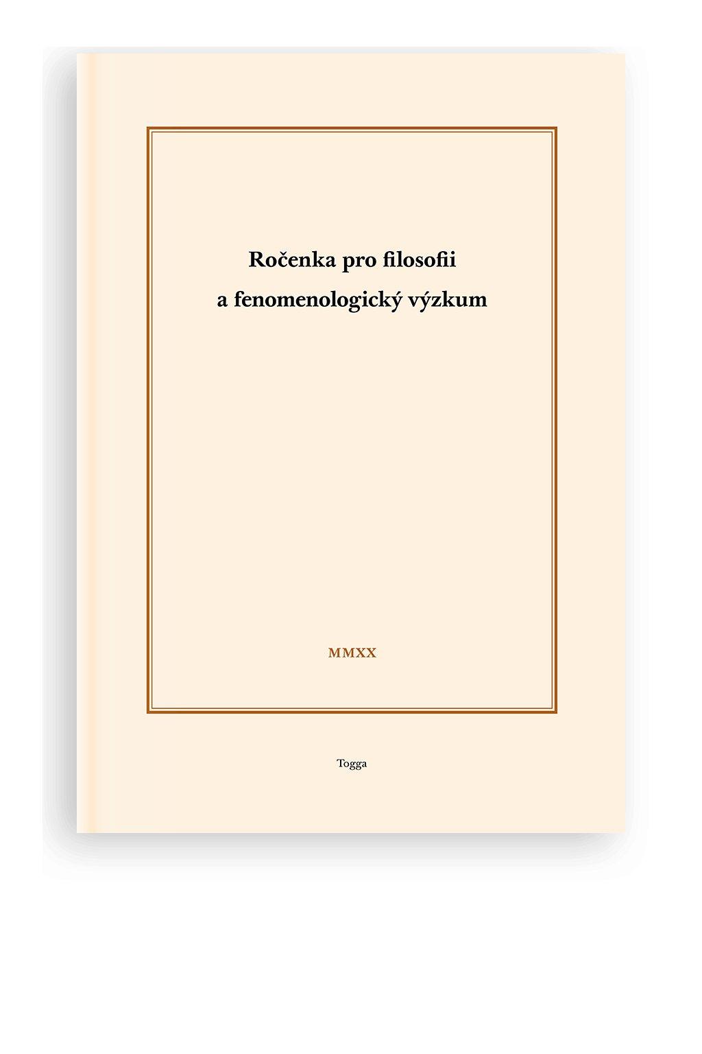 1549 rocenka pro filosofii a fenomenologicky vyzkum 2020