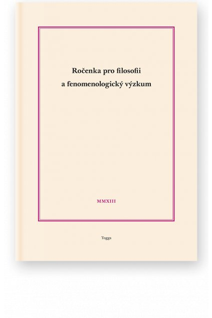 951 rocenka pro filosofii a fenomenologicky vyzkum 2013