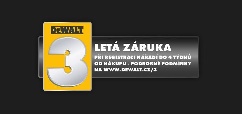 3 Letá záruka DEWALT