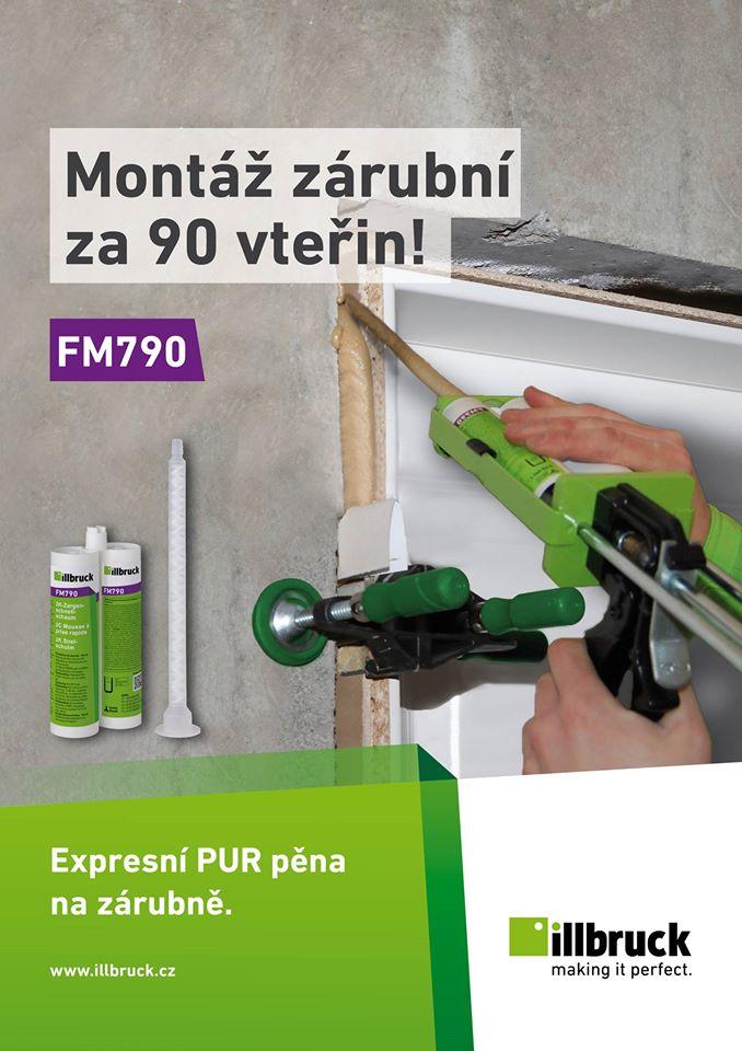 FM790 ukázka aplikace na zárubně, 2K pěna