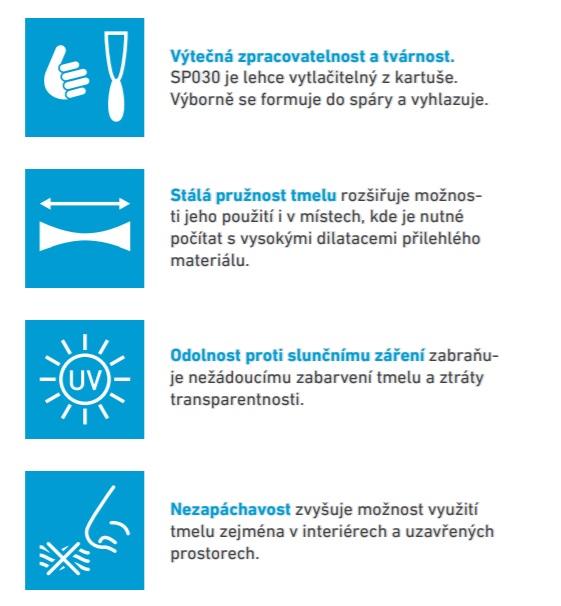 Výhody tmelu SP030