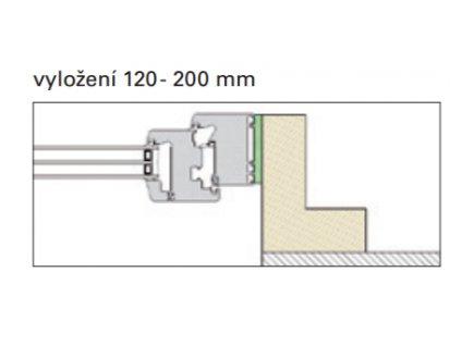 PR010 a PR012: vyložení 120 - 200 mm