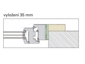 Typ 1: vyložení 35 mm
