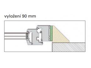 Typ 2: vyložení 90 mm