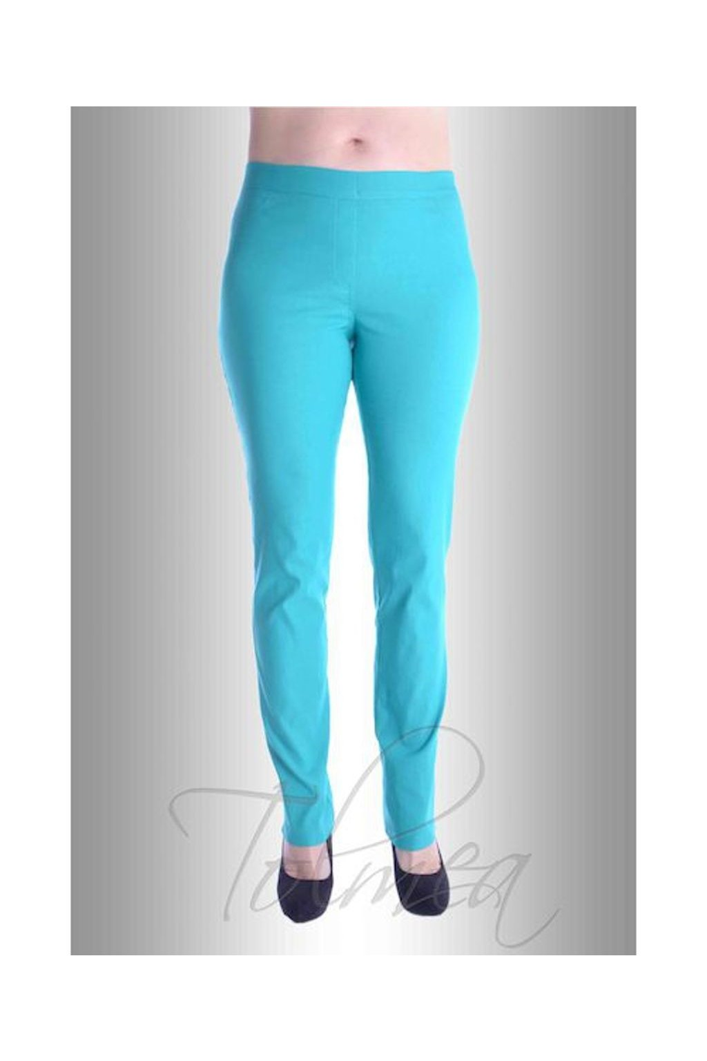 P2417 Kalhoty riflový vzhled (Velikost 38, Barva Bílá)