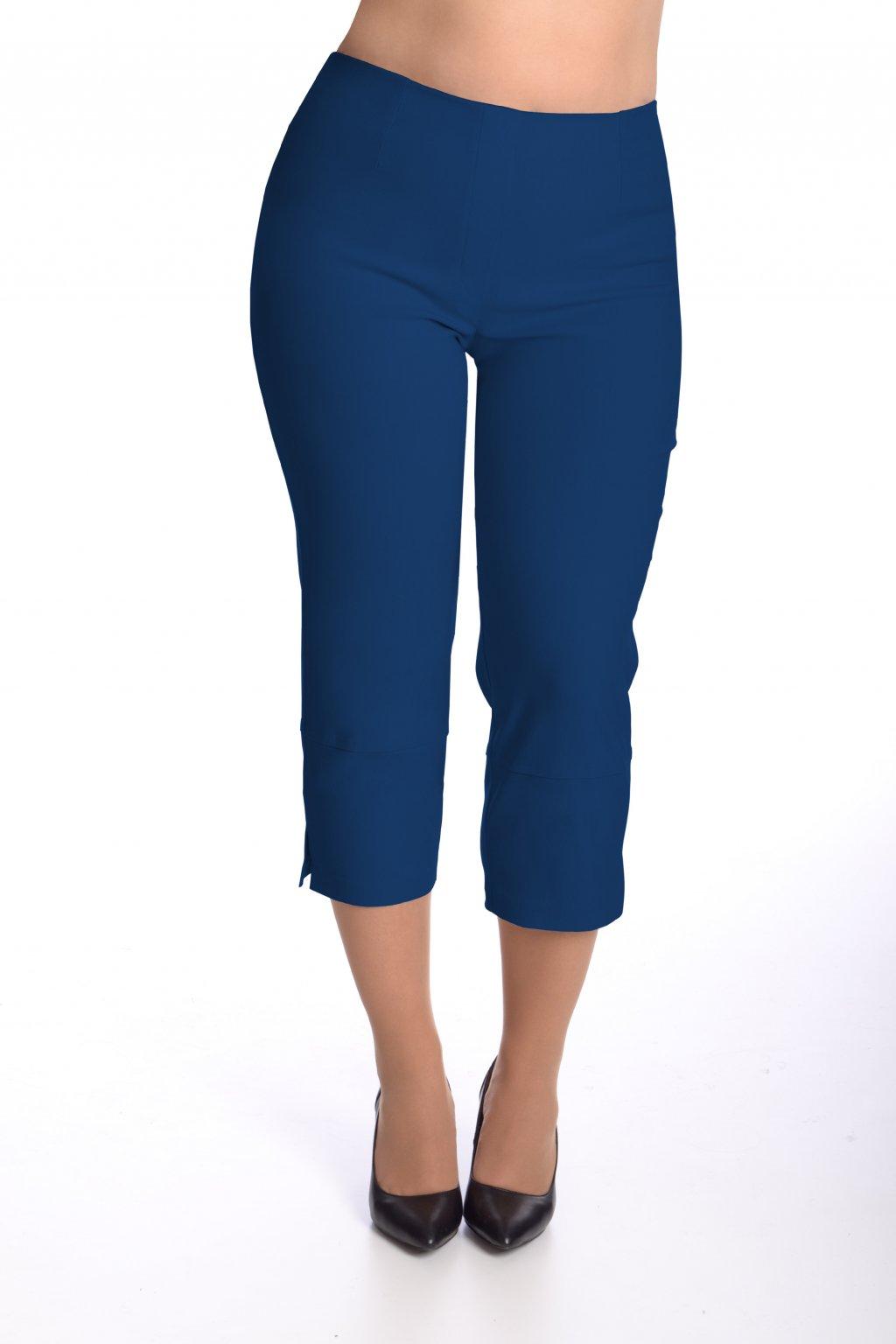Kalhoty elastické tříčtvrteční 40T (Velikost 36, Barva Modrá)