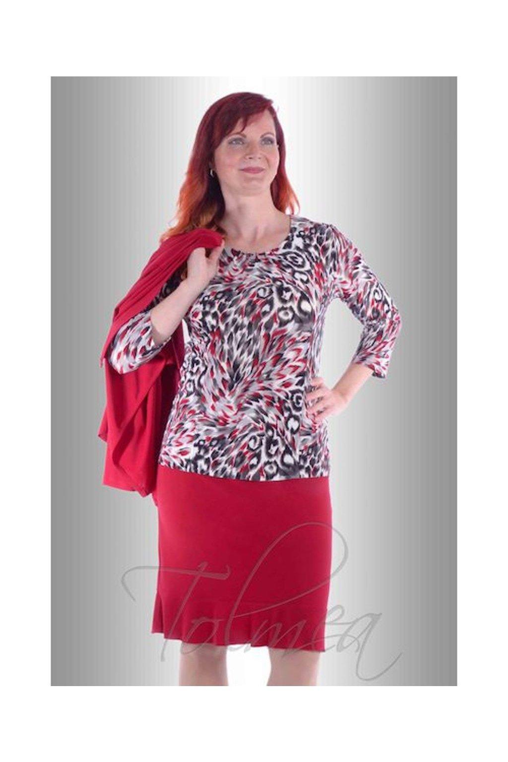 Sukně s kanýrkem 63 a 73 cm P0618 (Velikost 38, Barva Červená)