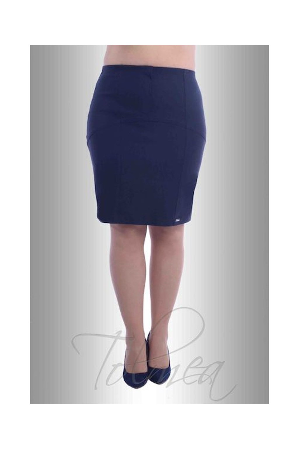 Sukně elastická členěná 4817 (Velikost 36, Barva Modrá)