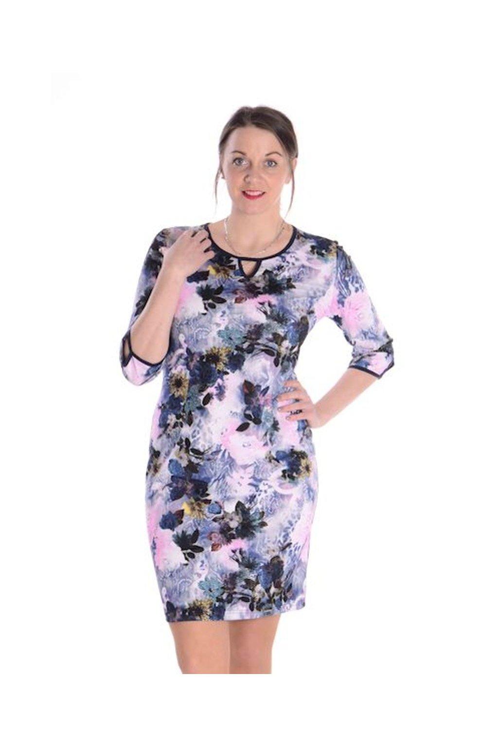 2921 Šaty Viola (Velikost 36, Barva Vzorovaná)