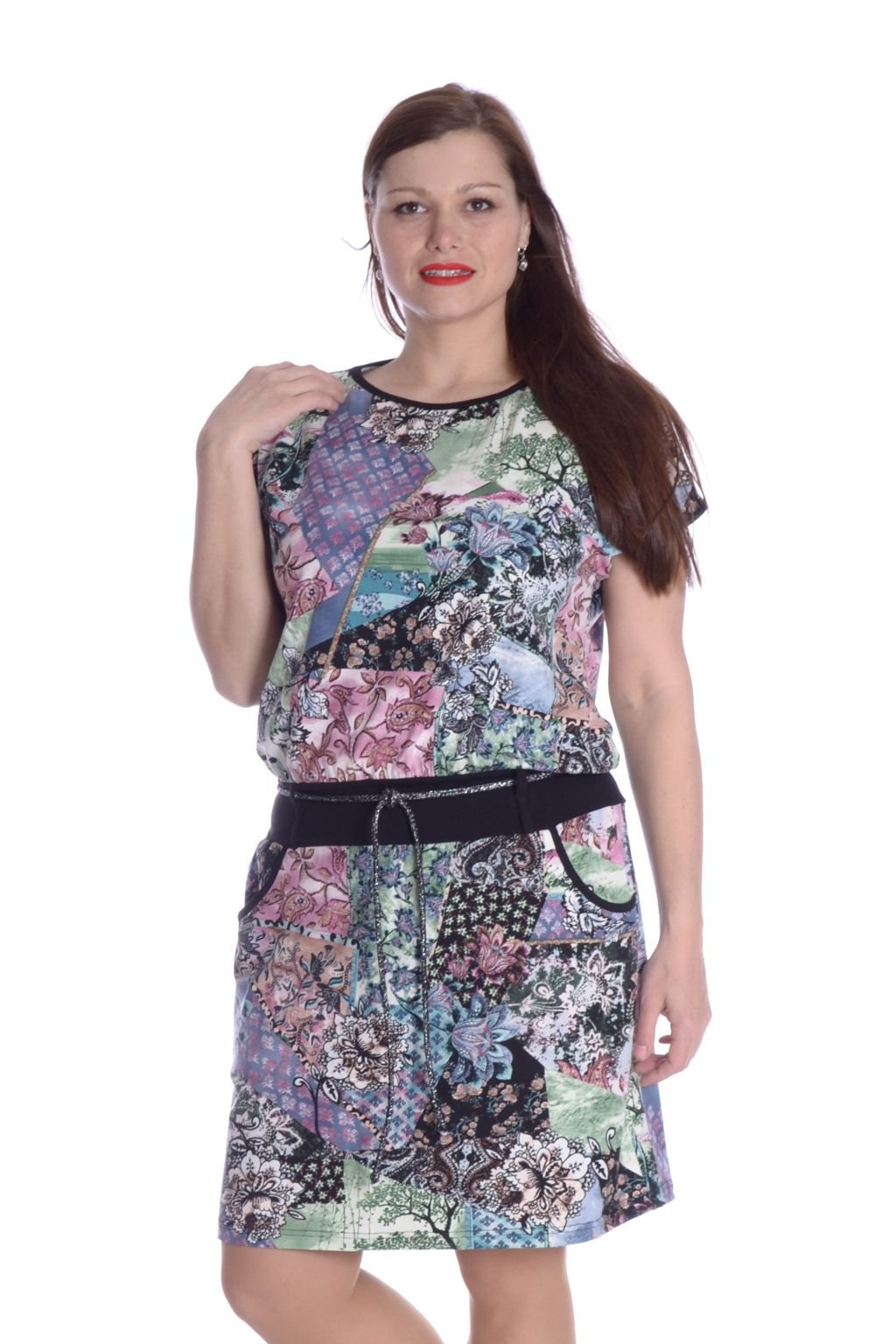 3921 Šaty Marina patchwork 112 ( 2)