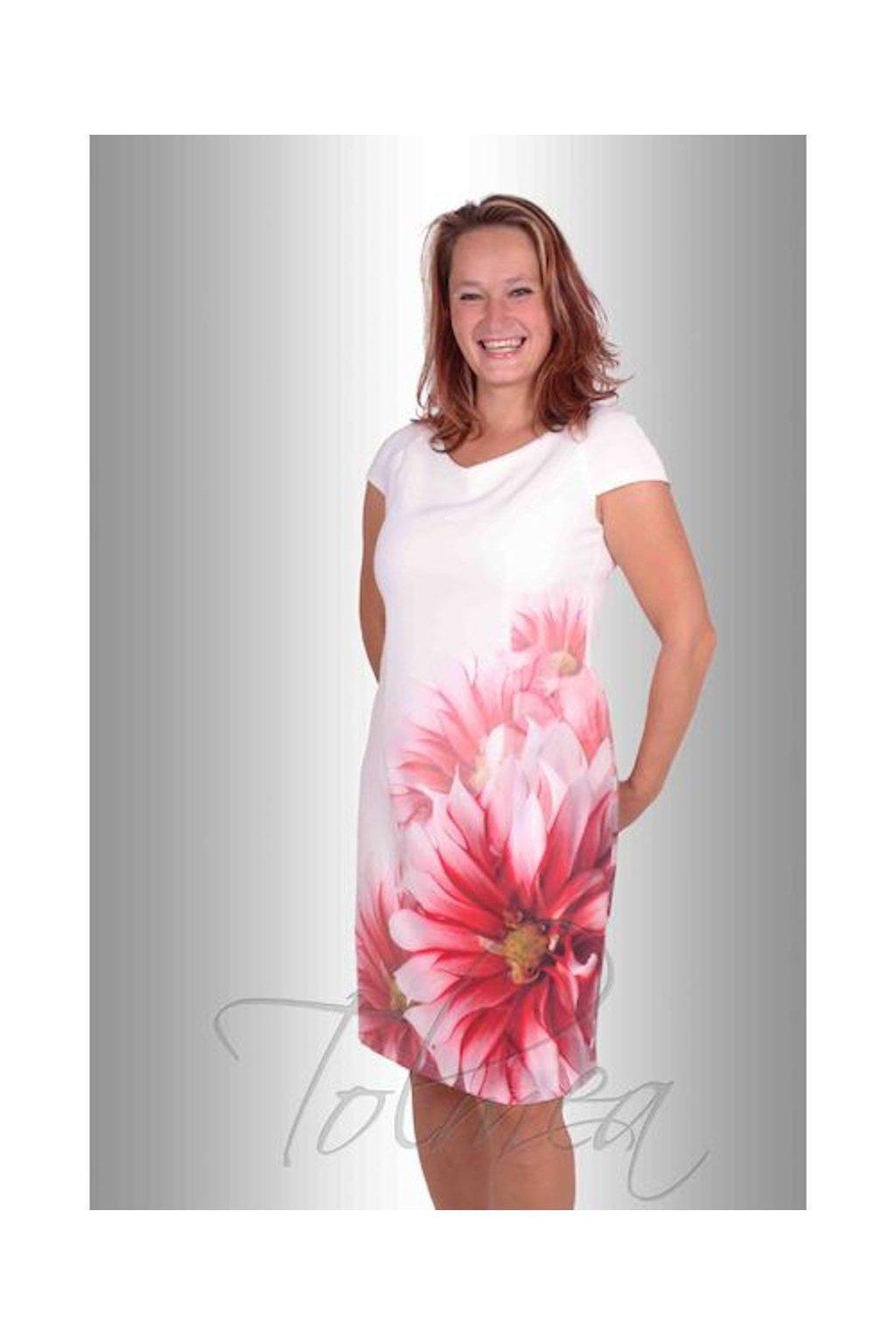 Šaty pouzdrové květ 96 a 103 cm (Velikost 36)