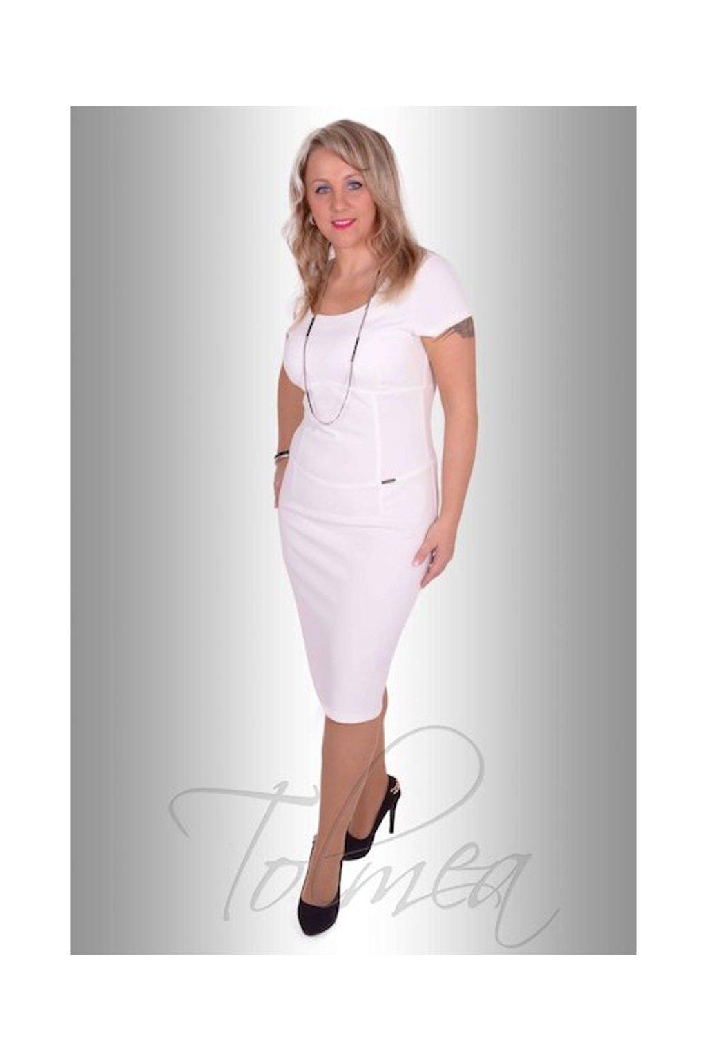 Šaty lacosta pouzdrové (Velikost 36, Barva Bílá)