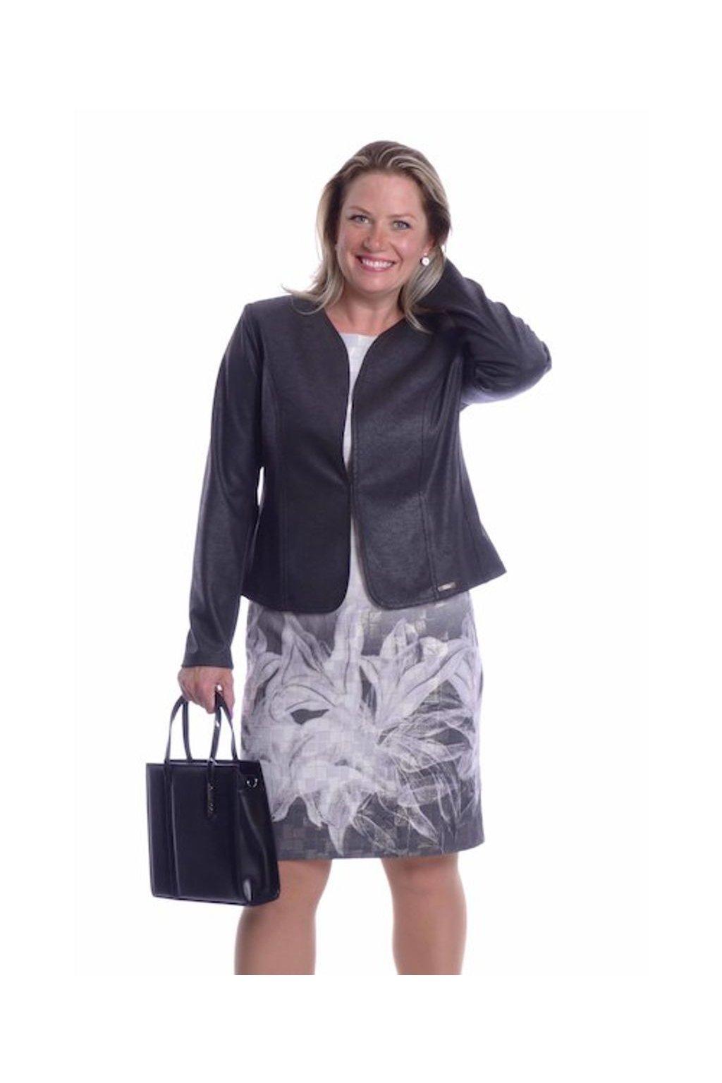 61T Kabátek Silueta (Velikost 36, Barva Černá)