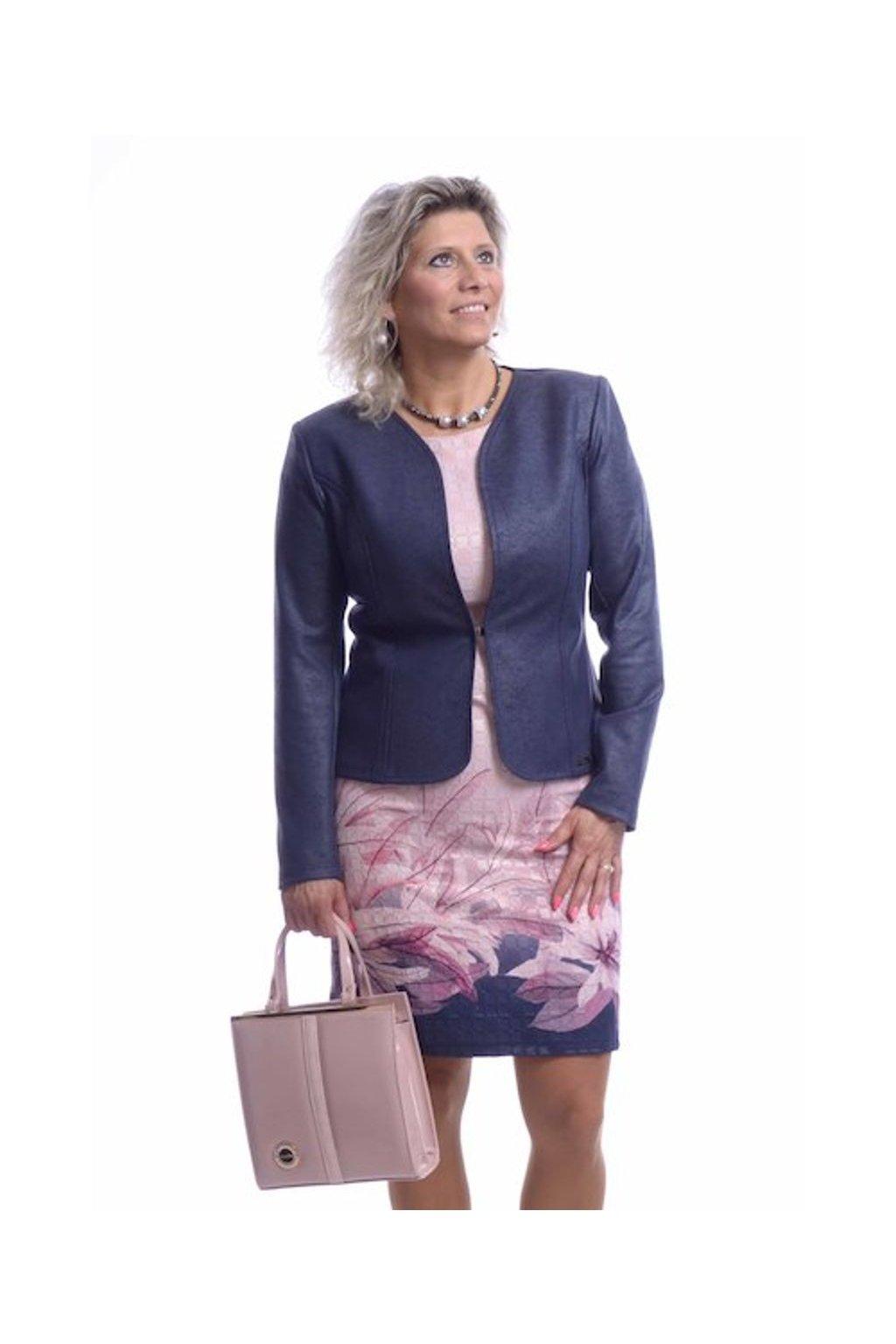 61T Kabátek Silueta (Velikost 36, Barva Modrá)