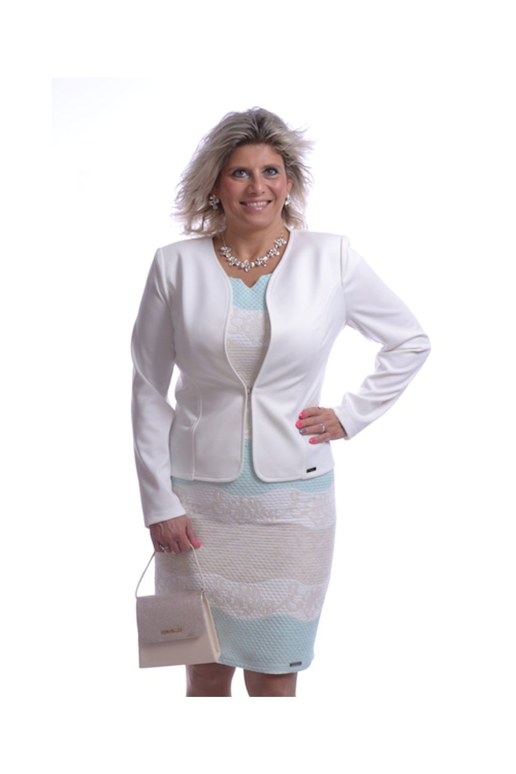 61T Kabátek Silueta (Velikost 36, Barva Bílá)