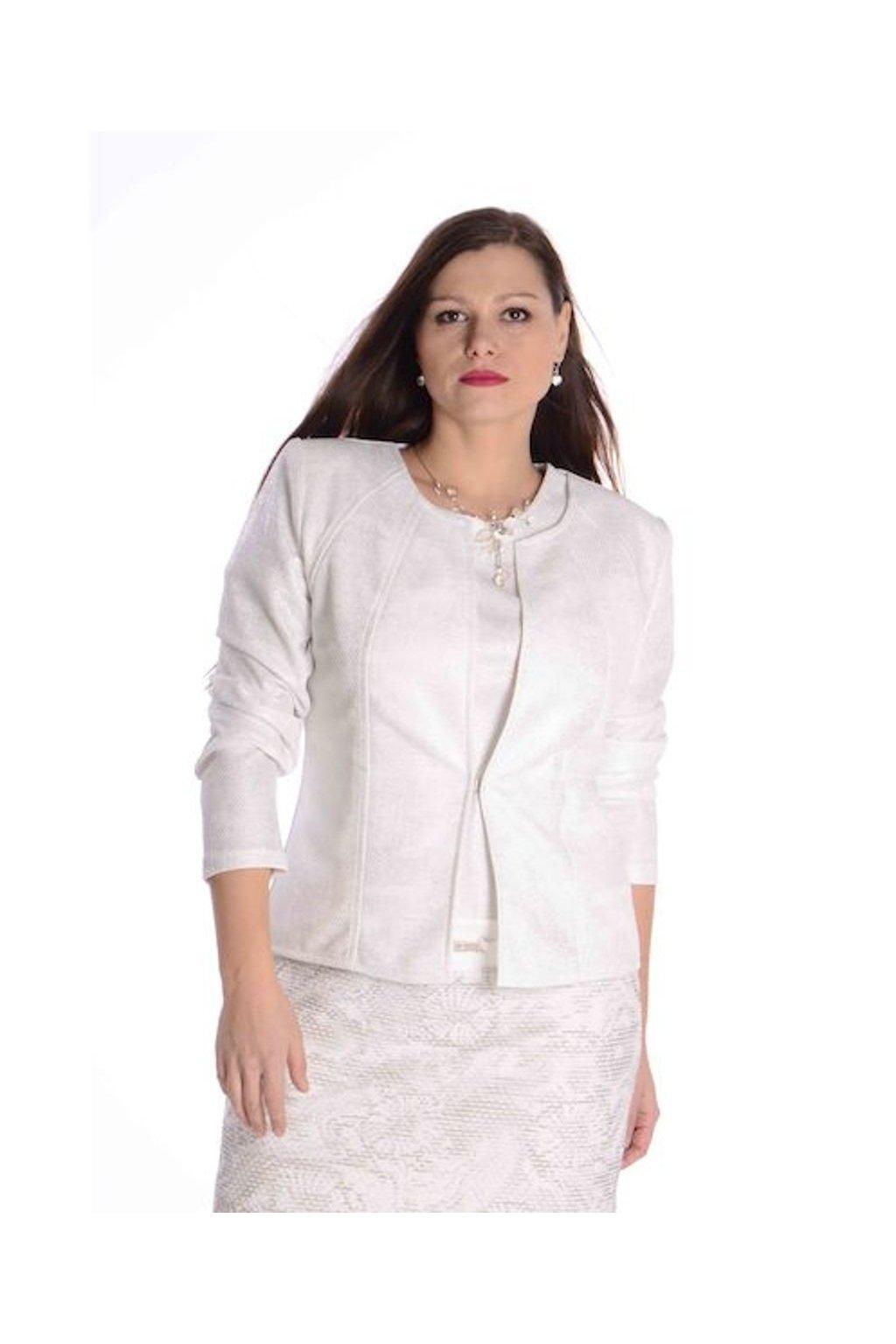 65T Kabátek Charisma (Velikost 36, Barva Smetanová)
