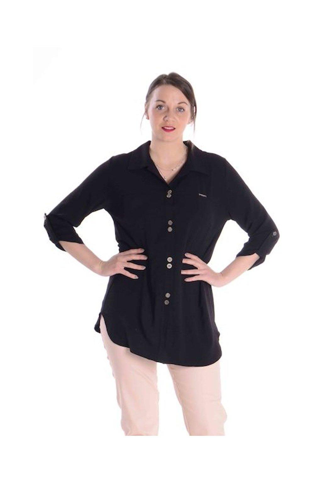 2421 Košile Chic (Velikost 36, Barva Černá)
