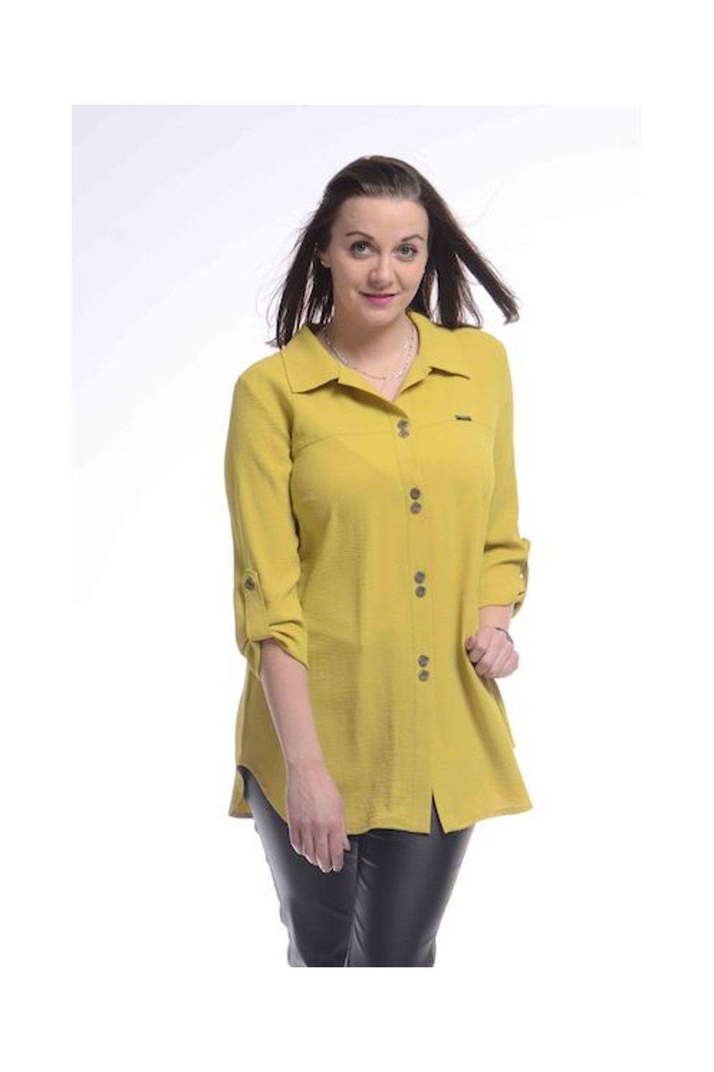 2421 Košile Chic (Velikost 36, Barva Žlutá)