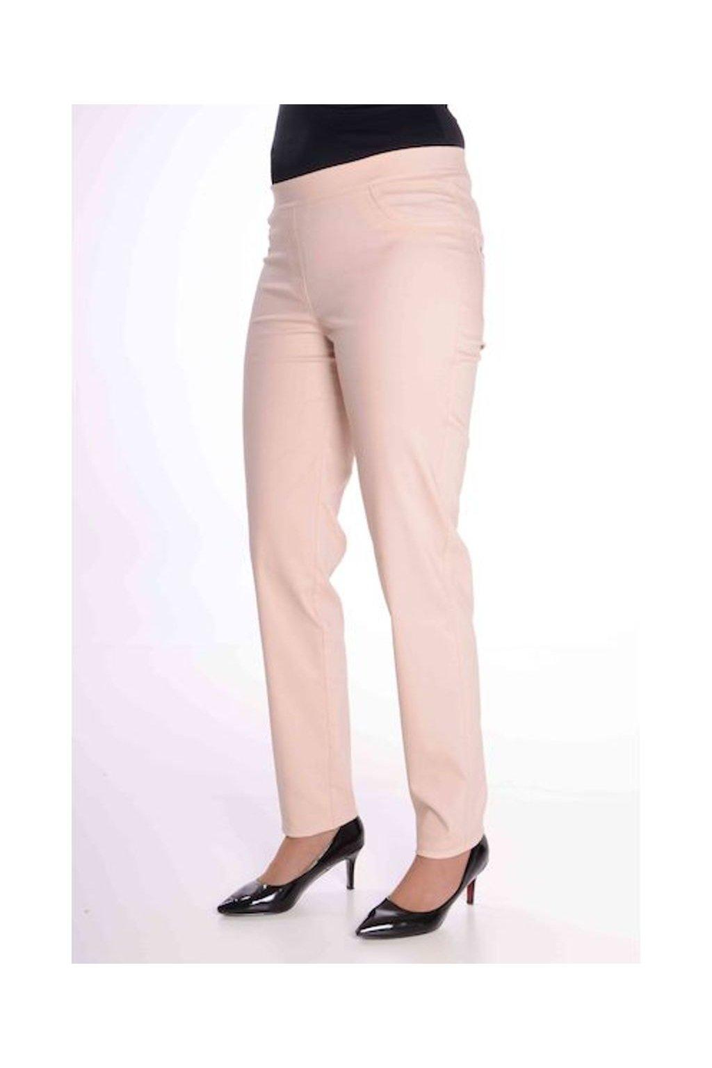 68T Kalhoty Jenny (Velikost 36, Barva Pudrová)