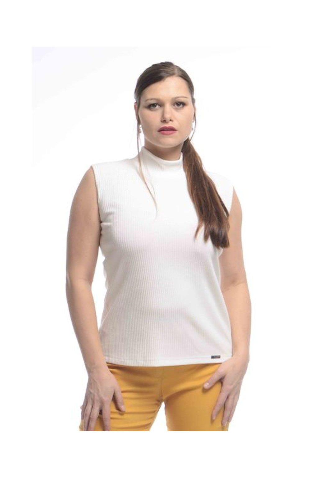 2021 Tričko Vera bez rukávů (Velikost 36, Barva Smetanová)
