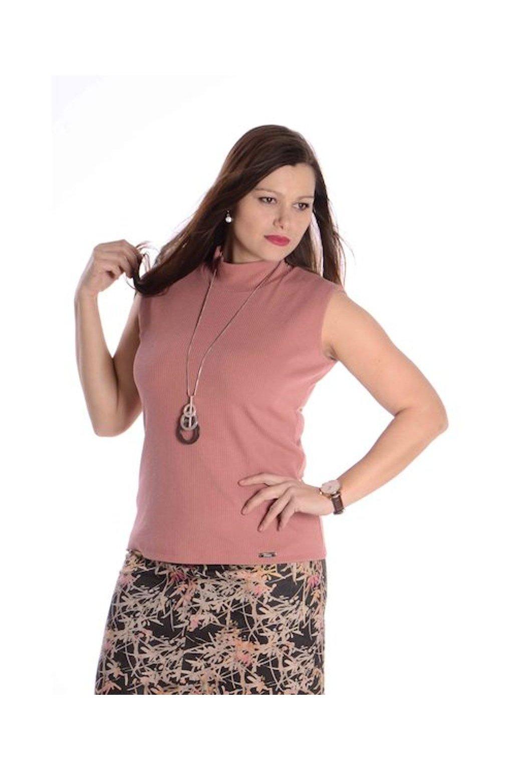 2021 Tričko Vera bez rukávů (Velikost 36, Barva Růžová)