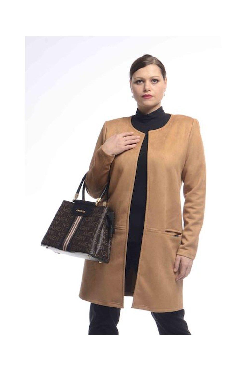 0921 Kabátek Línie (Velikost 36, Barva Béžová)