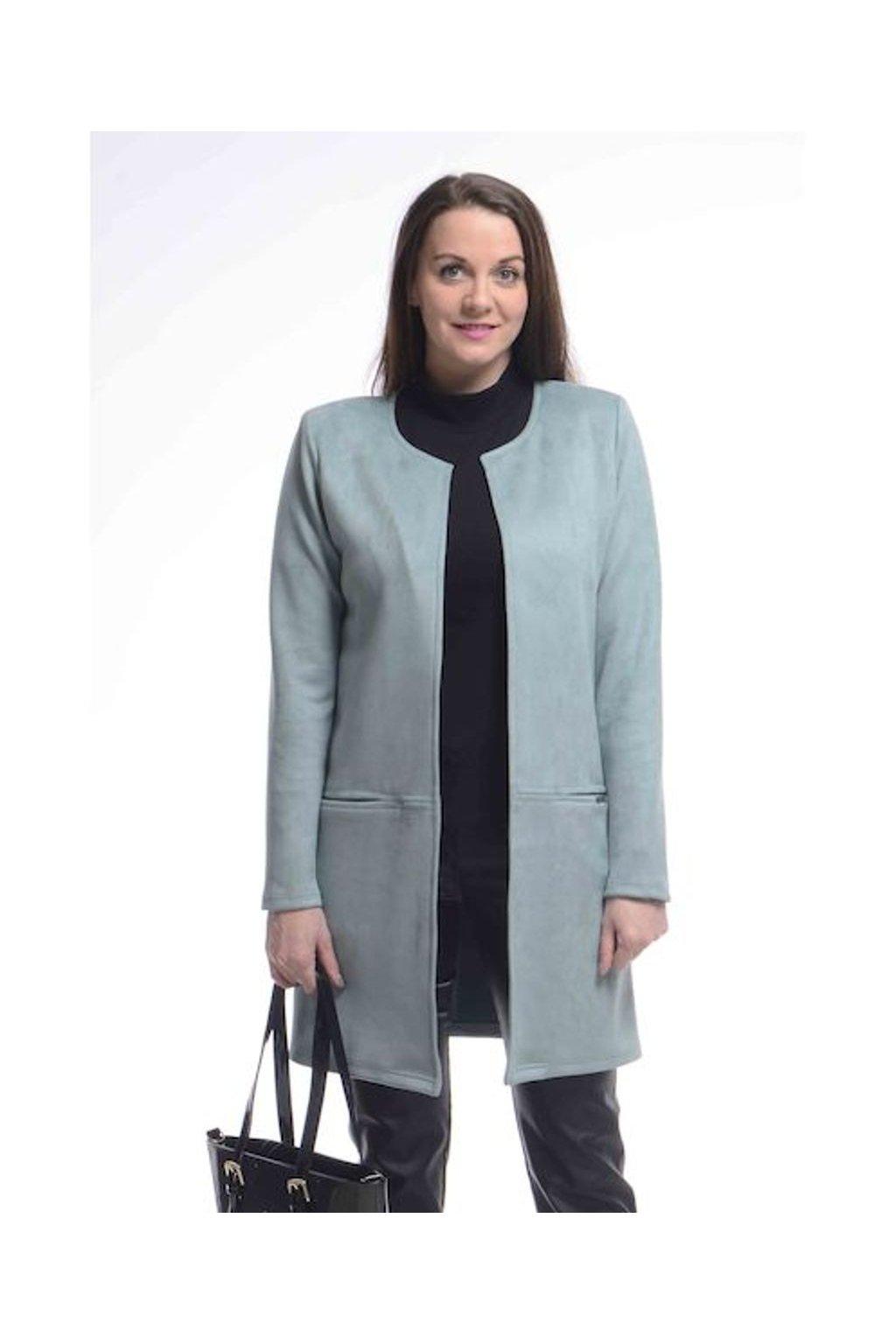 0921 Kabátek Línie (Velikost 36, Barva Tyrkysová)
