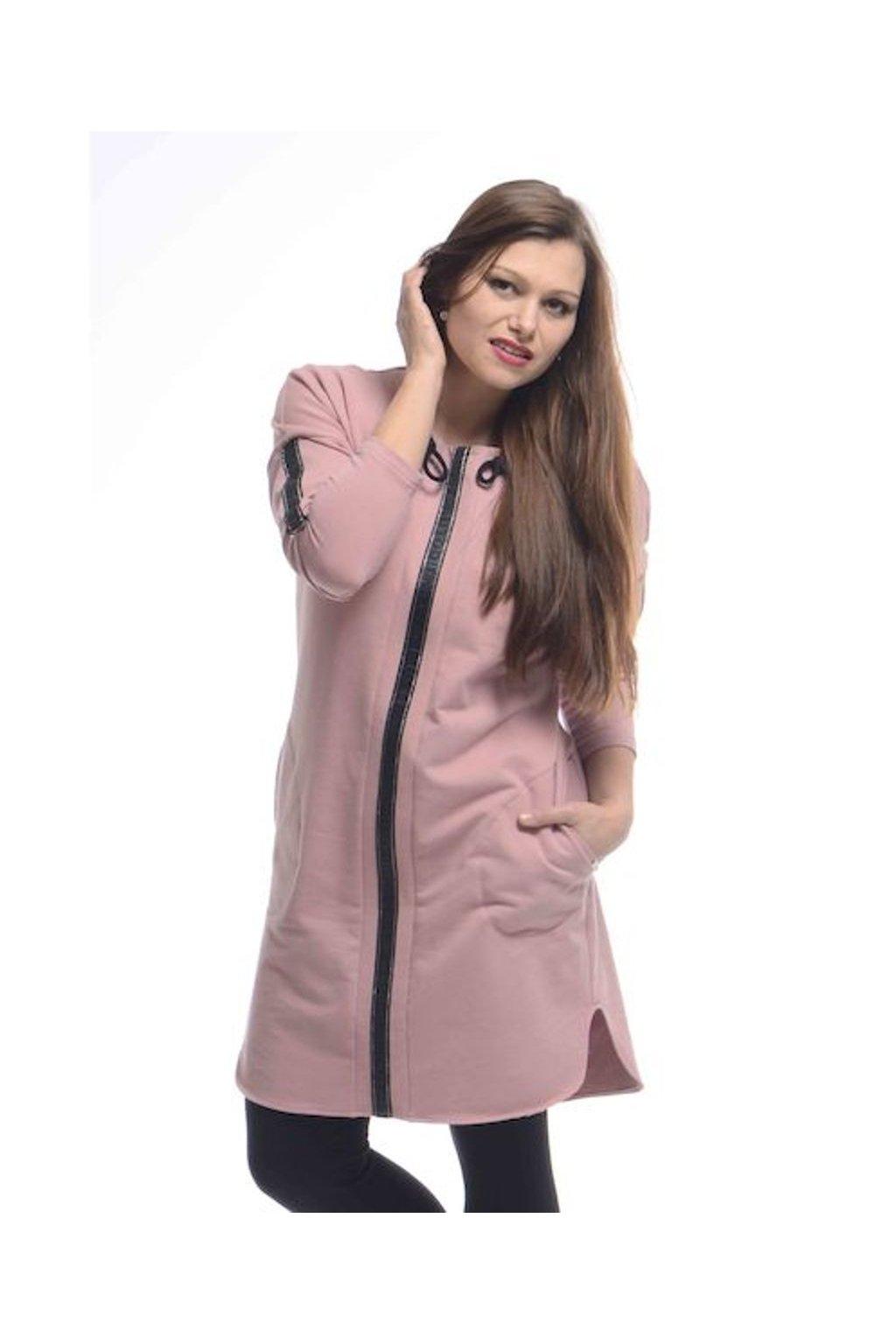 0821 Šaty Kima (Velikost 36, Barva Růžová)