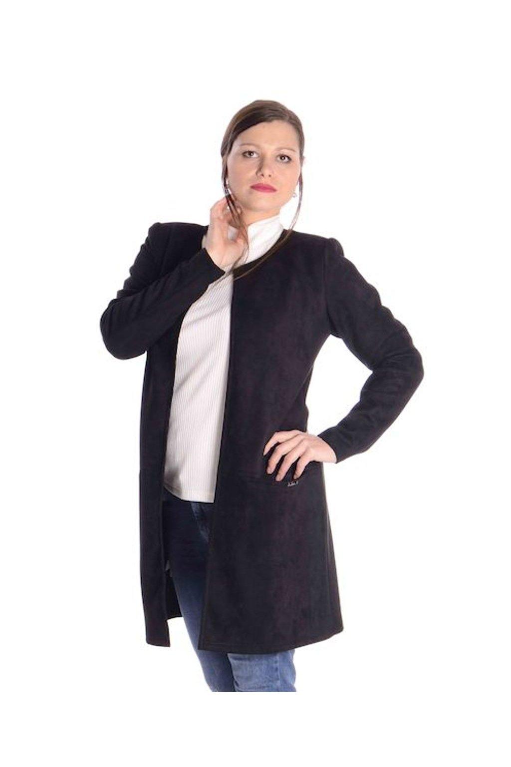 0921 Kabátek Línie (Velikost 36, Barva Černá)