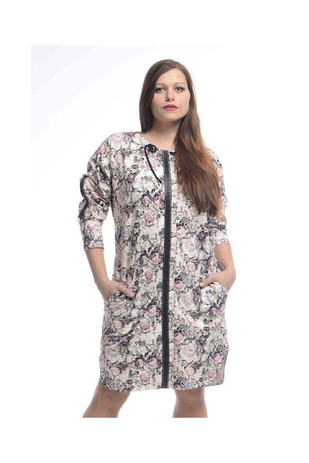 0821 Šaty Kima (Velikost 36, Barva Vzorovaná)