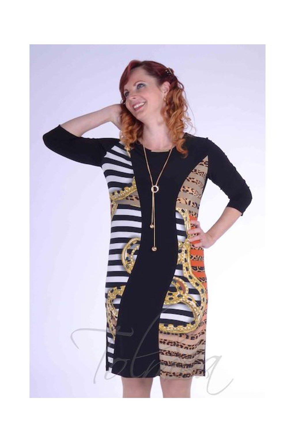 Šaty vlna vzor 2318 (Velikost 36, Barva Vzorovaná)