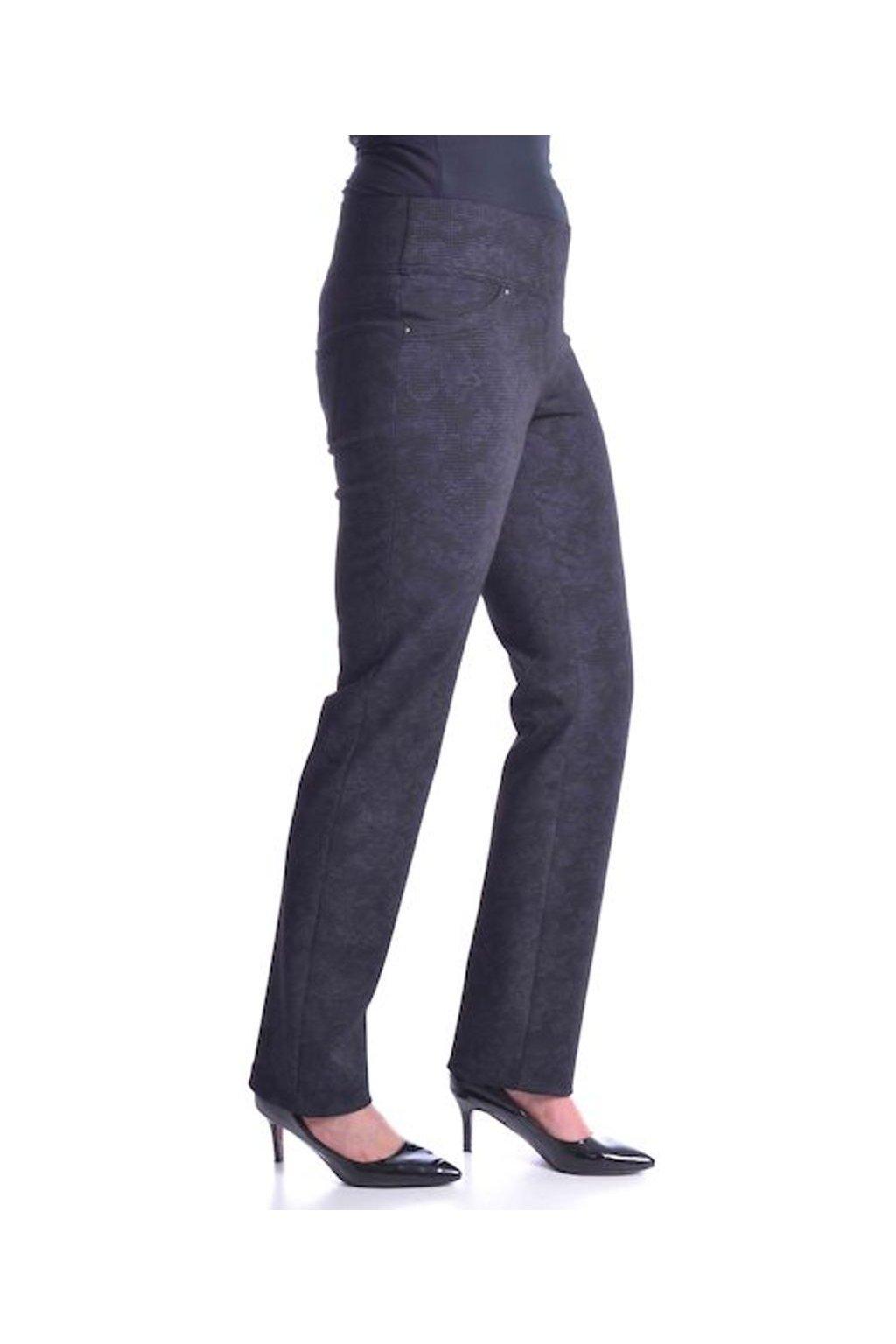 Kalhoty deluxe vysoký pas 50T (Velikost 36, Barva Vzorovaná)