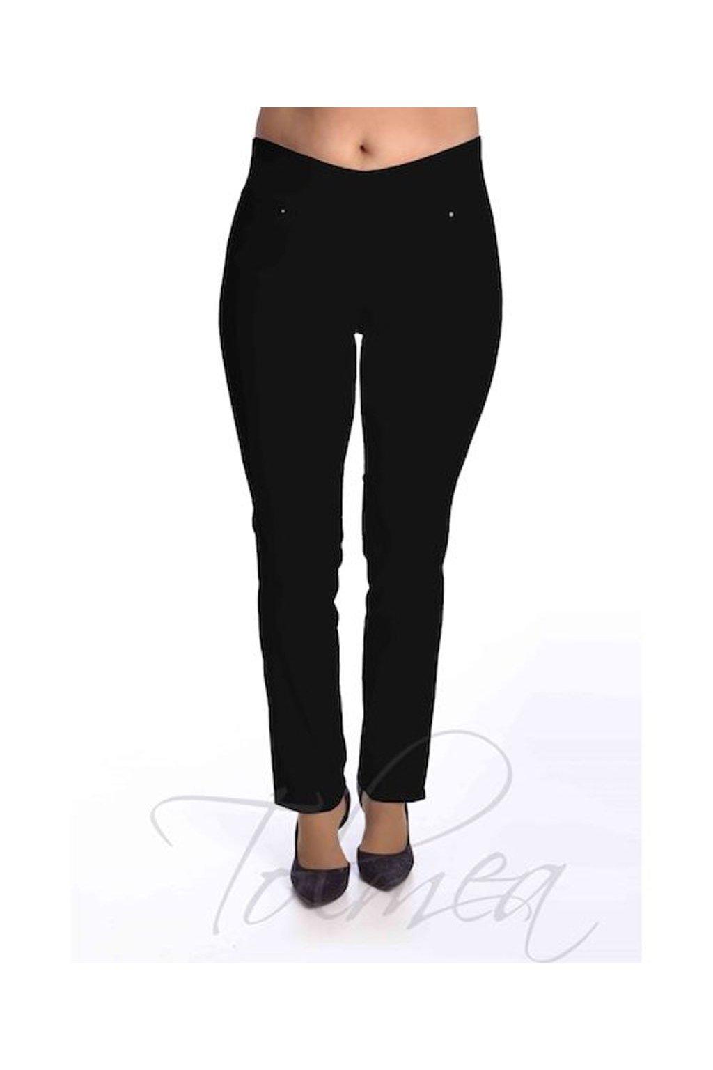 Kalhoty elastické vysoký pas 55T (Velikost 38, Barva Pudrová)
