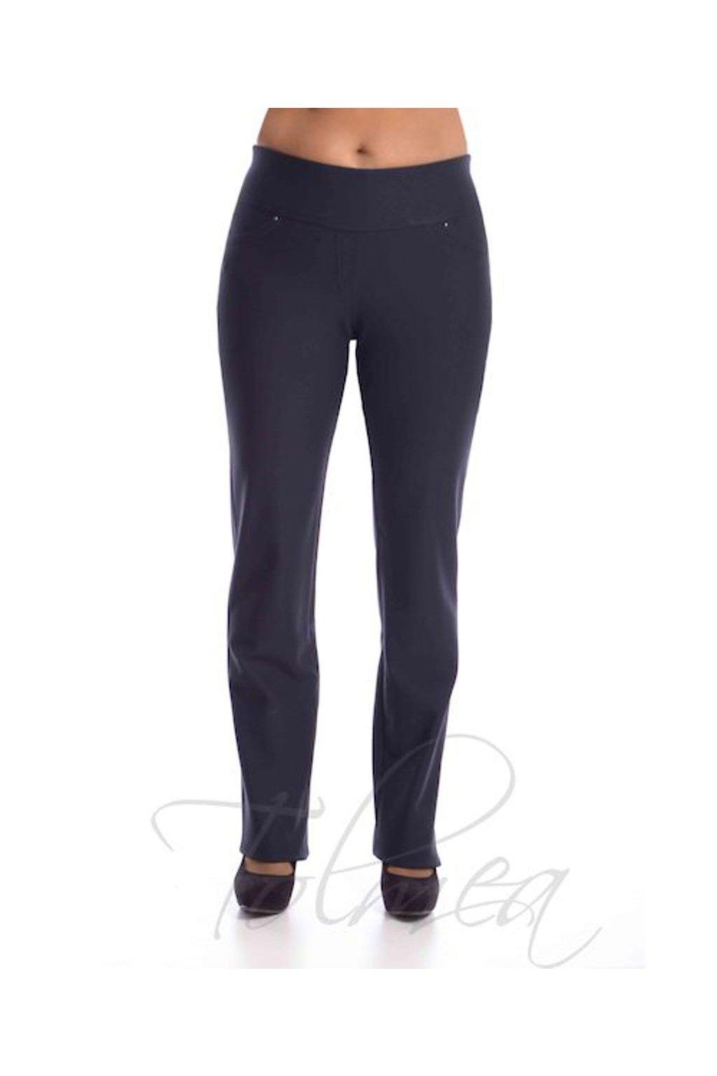 Kalhoty deluxe vysoký pas 50T (Velikost 36, Barva Modrá)