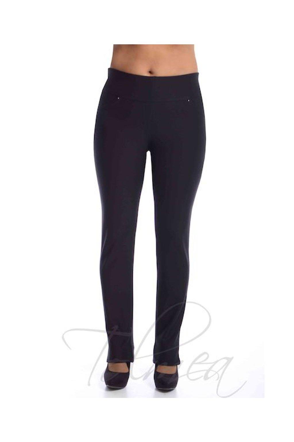 Kalhoty deluxe vysoký pas 50T černá (Velikost 36, Barva Černá)