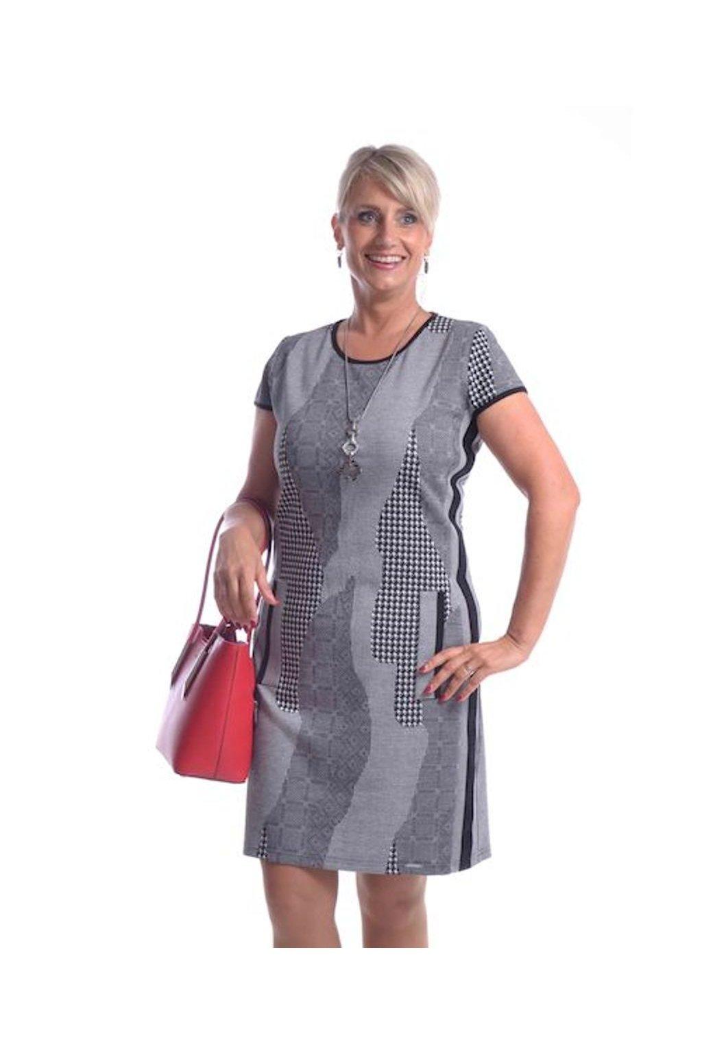 9220 Šaty Style vzor (Velikost 36, Barva Vzorovaná)
