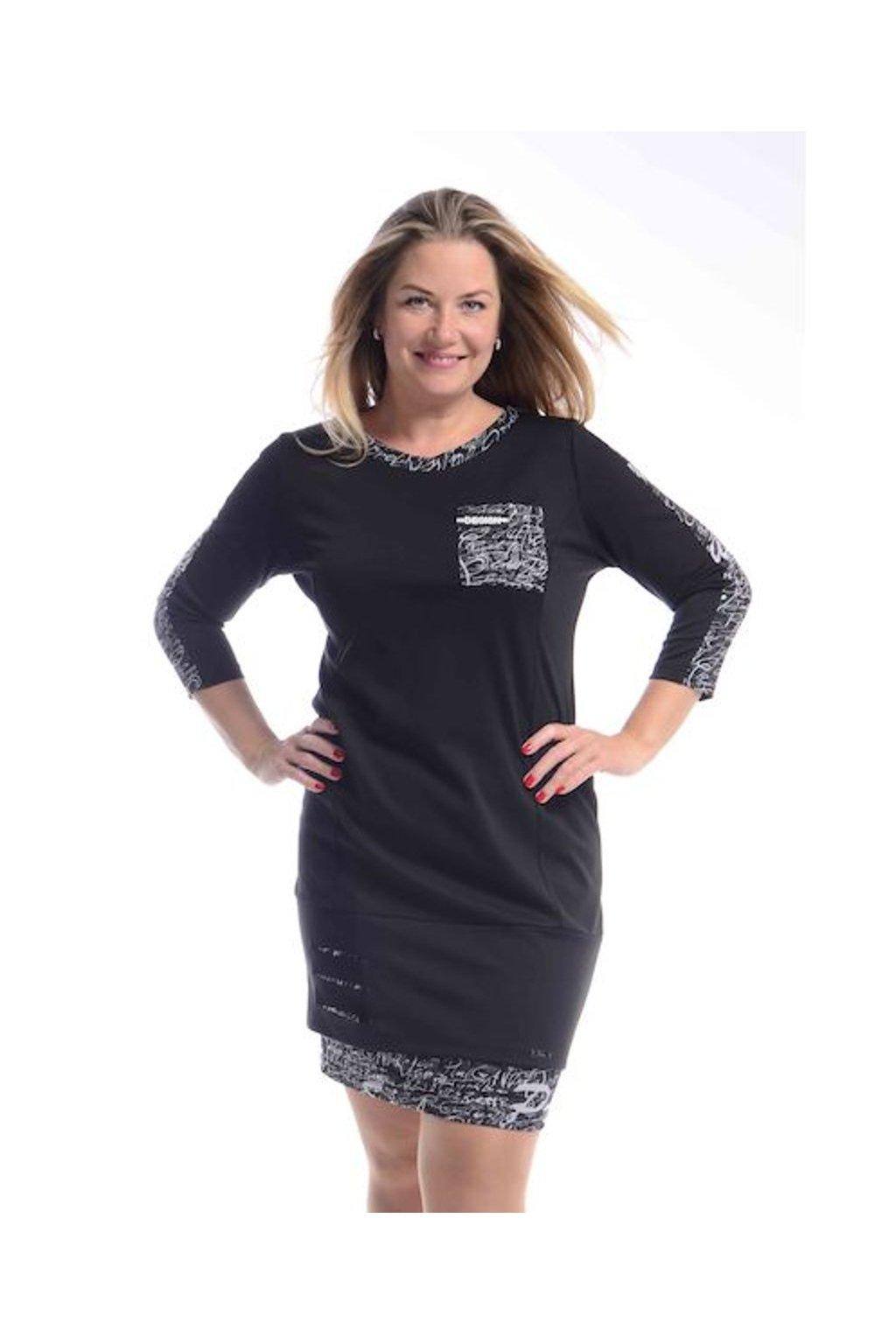 8620 Šaty Design (Velikost 36, Barva Černá)