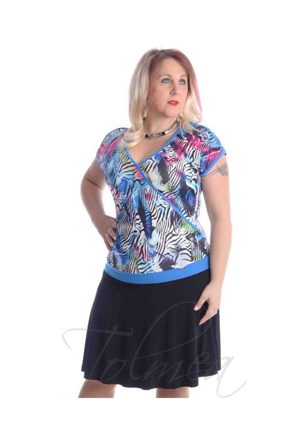 4919 Šaty kolová sukně (Velikost 36, Barva Vzorovaná)