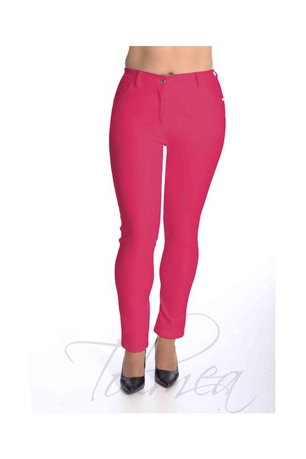 49T Kalhoty riflové kožený vzhled (Velikost 38, Barva Modrá)