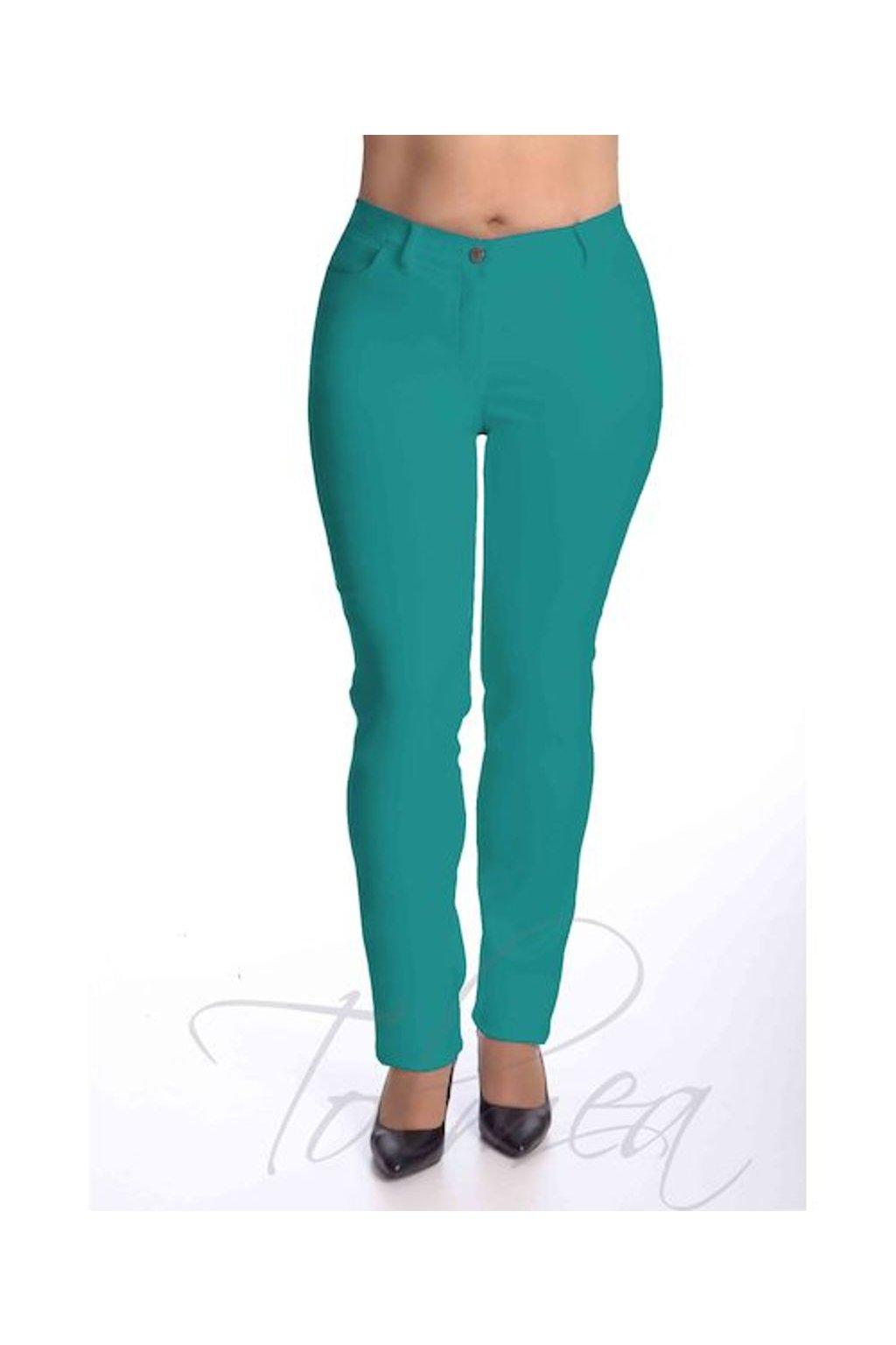 Kalhoty elastické riflové dlouhé 45T (Velikost 38, Barva Bílá)