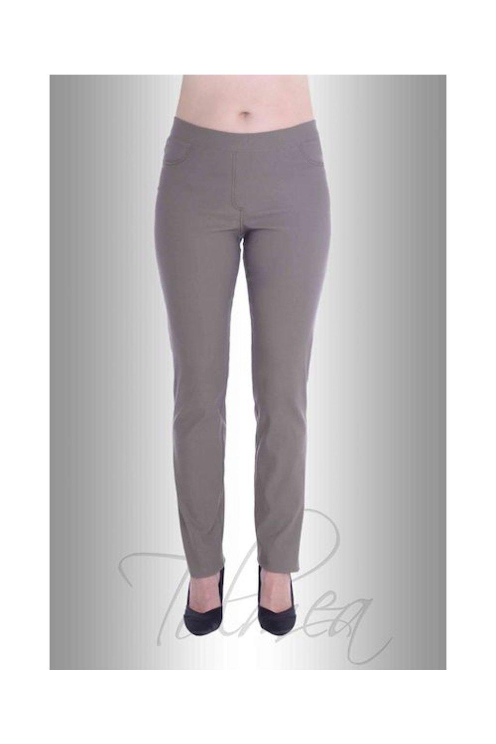Kalhoty elastické džegíny 51T (Velikost 36, Barva Béžová tmavá)