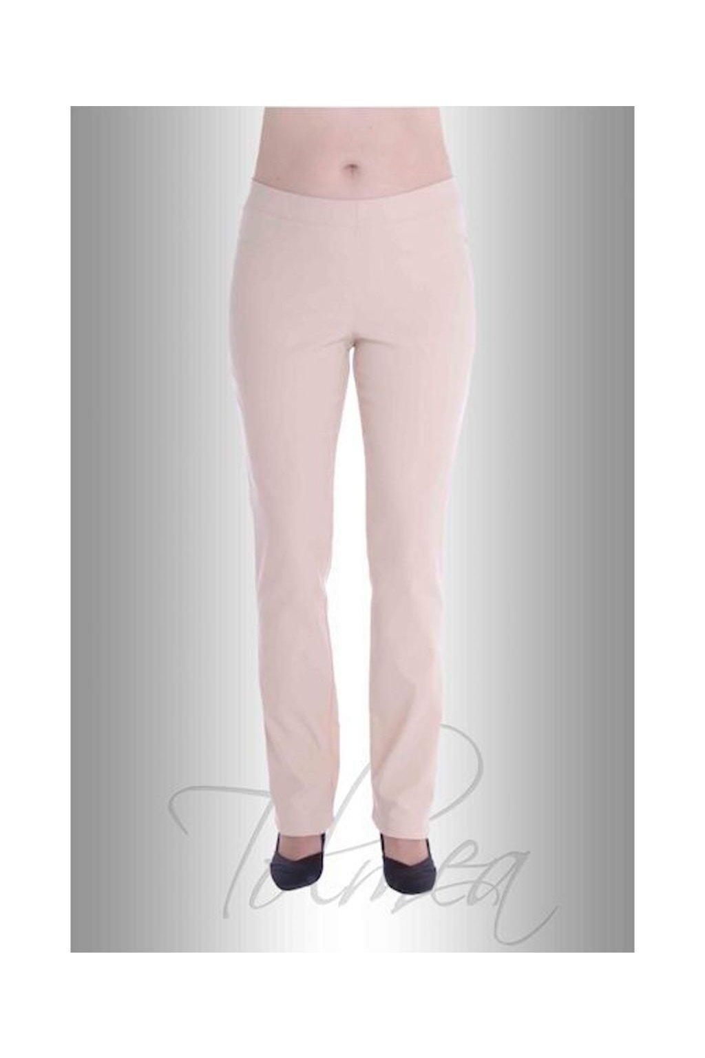 Kalhoty elastické džegíny 51T (Velikost 36, Barva Pudrová)