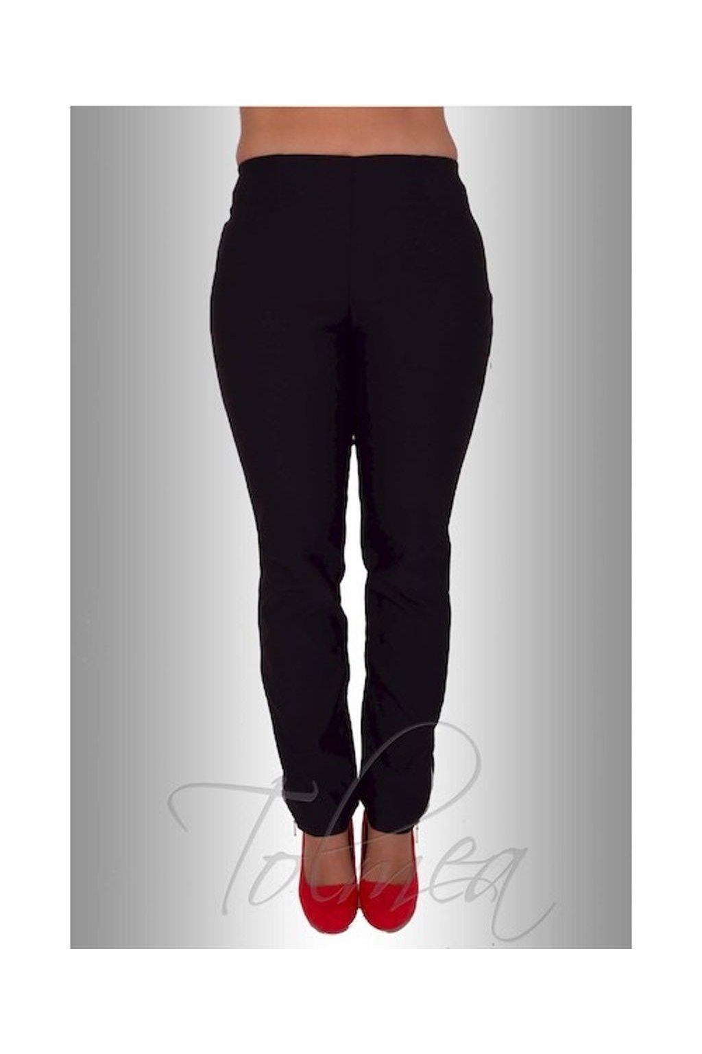 Kalhoty elastické zipy 0215, P1815 (Velikost 38, Barva Černá)