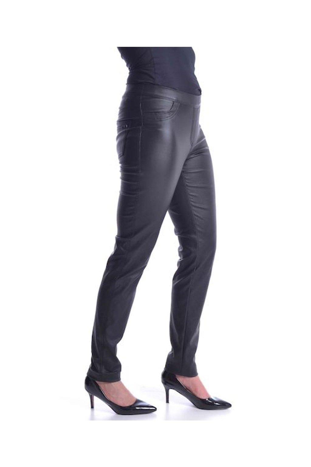 64T Kalhoty koženka (Velikost 36, Barva Černá)