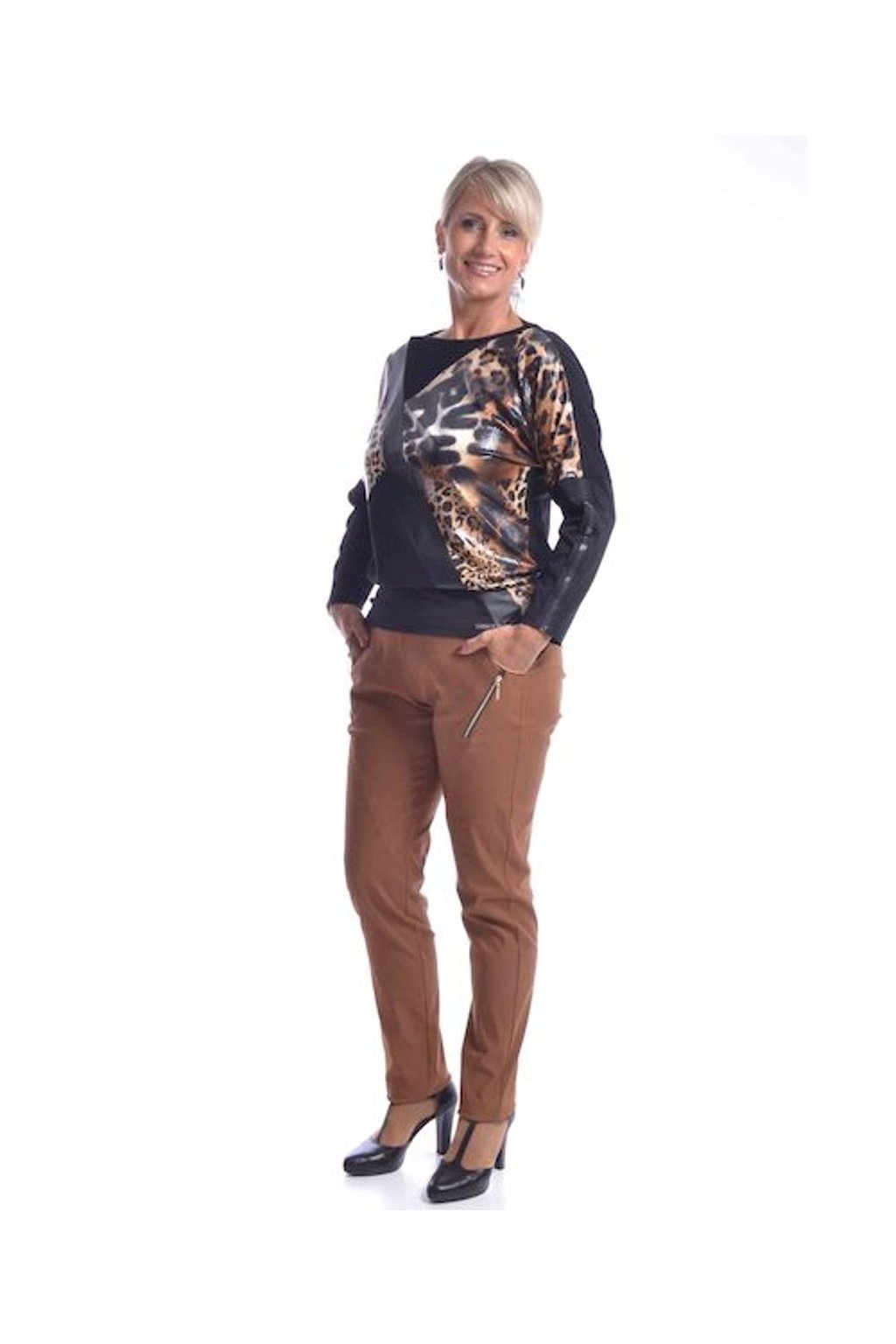 62T Kalhoty Zita (Velikost 36, Barva Hnědá)