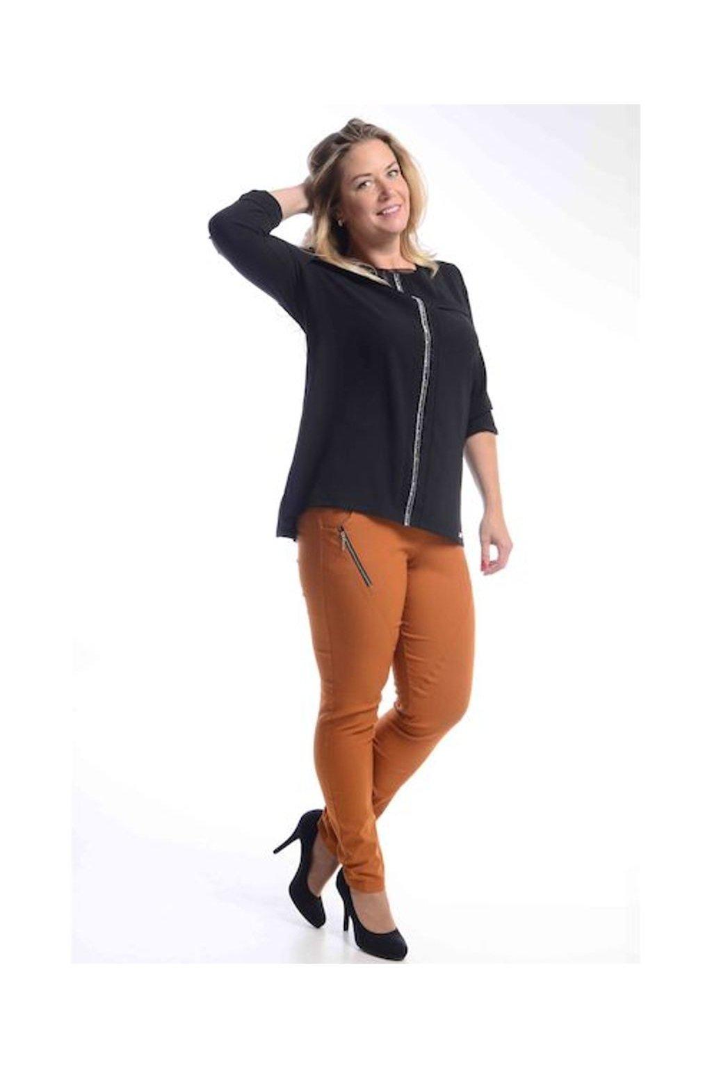 62T Kalhoty Zita (Velikost 36, Barva Cihlová)